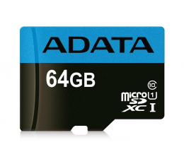 Karta pamięci microSD ADATA 64GB microSDXC Premier 100MB/s A1 V10 C10 UHS-I