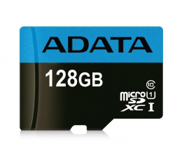 Karta pamięci microSD ADATA 128GB microSDXC Premier 85MB/s A1 V10 C10 UHS-I