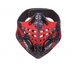 Maska antysmogowa Respro Skin Tartan Red XL