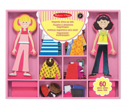 Zabawka drewniana Melissa & Doug Abby & Emma magnetyczna przebieranka