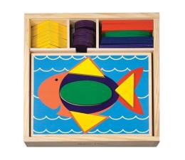 Zabawka drewniana Melissa & Doug Drewniane klocki i plansze