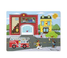 Zabawka drewniana Melissa & Doug Puzzle z dźwiękiem - Straż Pożarna