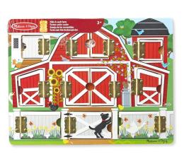Zabawka drewniana Melissa & Doug Tablica edukacyjna Otwórz i Zamknij Farma