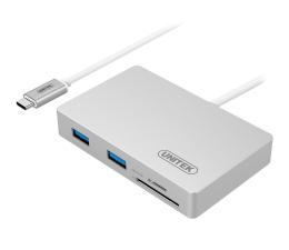 Hub USB Unitek HUB USB-C - 3x USB 3.0 + czytnik kart + PD