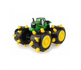 Pojazd / tor i garaż TOMY John Deere Traktor Opony z Kolcami 46712