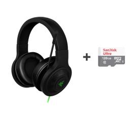 Słuchawki przewodowe Razer Kraken Essential + SanDisk 128GB microSDXC