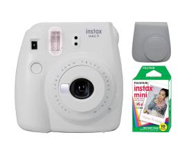Aparat natychmiastowy Fujifilm Instax Mini 9 biały + wkład 10PK + pokrowiec