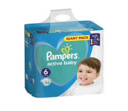 Pieluchy jednorazowe Pampers Active Baby 6 13-18kg Extra Large 56szt