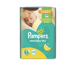 Pieluchy jednorazowe Pampers New Baby Dry 1 Newborn 2-5kg 43szt