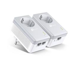 Adapter HomePlug (PLC) TP-Link TL-PA4022P KIT PowerLine 600Mb/s (2 szt, gniazdo)