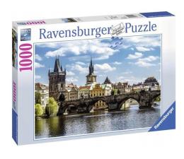 Puzzle 1000 - 1500 elementów Ravensburger Widok na most Karola