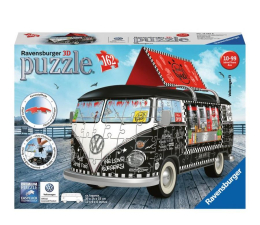 Puzzle do 500 elementów Ravensburger 3D VW bus T1 Food Truck 162 el.