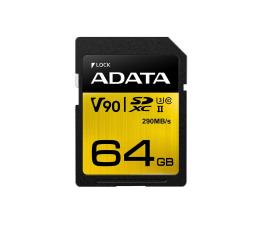 Karta pamięci SD ADATA 64GB Premier ONE 290MB/s C10 UHS-II U3
