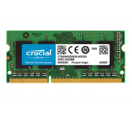 Pamięć RAM SODIMM DDR3 Crucial 8GB 1600MHz DDR3L CL11 1.35V