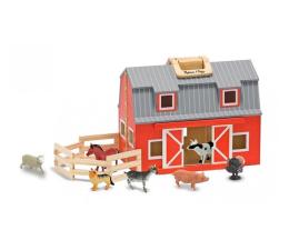 Zabawka drewniana Melissa & Doug Stodoła czerwona 10 elementów