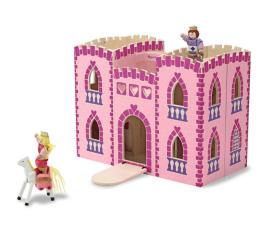 Zabawka drewniana Melissa & Doug Przenośny składany zamek księżniczki