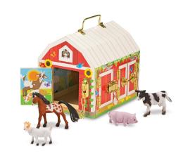Zabawka drewniana Melissa & Doug Drewniana zamykana stodoła ze zwierzątkami