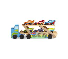 Zabawka drewniana Melissa & Doug Drewniana Laweta + 6 Wyścigówek