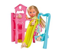Lalka i akcesoria Simba Evi na placu zabaw dla szczeniaczków
