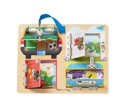 Zabawka drewniana Melissa & Doug Tablica edukacyjna - Zamki i zabezpieczenia