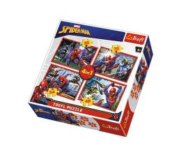 Puzzle dla dzieci Trefl Disney W sieci Spider-mana 4w1