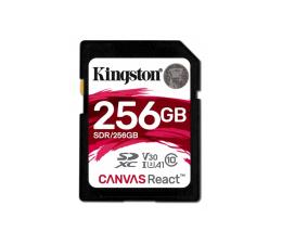 Karta pamięci SD Kingston 256GB SDXC Canvas React 100MB/s C10 UHS-I U3 V30