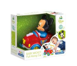 Zabawka dla małych dzieci Clementoni Disney Baby Mickey samochodzik do ciągnięcia