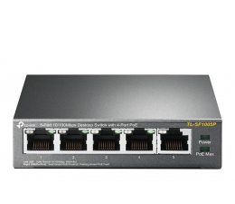 Switch TP-Link 5p TL-SF1005P (5x10/100Mbit, 4xPoE)