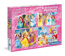Puzzle dla dzieci Clementoni Puzzle Disney Princess 20+60+100+180 el.