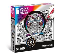 Puzzle do 500 elementów Clementoni Puzzle 3D Color Therapy Owl