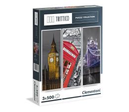 Puzzle 1000 - 1500 elementów Clementoni Puzzle Trittico London 3x500 el.