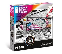 Puzzle do 500 elementów Clementoni Puzzle 3D Color Therapy Lighthouse