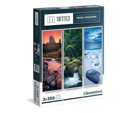 Puzzle 1000 - 1500 elementów Clementoni Puzzle Trittico Nature 3x500 el.