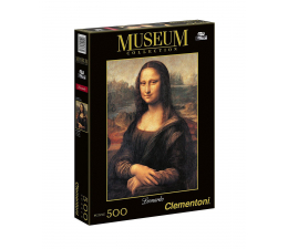 Puzzle do 500 elementów Clementoni Puzzle Museum  Leonardo: Gioconda