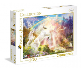 Puzzle do 500 elementów Clementoni Puzzle HQ Sunset Unicorns