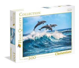 Puzzle do 500 elementów Clementoni Puzzle HQ Dolphins