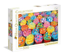 Puzzle do 500 elementów Clementoni Puzzle HQ Colorful Cupcakes