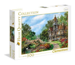 Puzzle do 500 elementów Clementoni Puzzle HQ Old Waterway Cottage