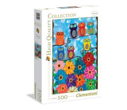 Puzzle do 500 elementów Clementoni Puzzle HQ  Cute little owls