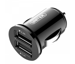 Ładowarka do smartfonów Unitek Ładowarka samochodowa 2 x USB 4,8A 24W
