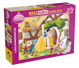 Puzzle dla dzieci Lisciani Giochi Disney dwustronne Maxi Śnieżka 108 el.