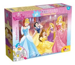 Puzzle dla dzieci Lisciani Giochi Disney dwustronne Maxi 60 el. Księżniczki