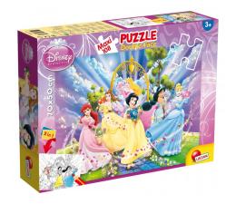 Puzzle dla dzieci Lisciani Giochi Disney dwustronne Maxi 108 el. Ksieżniczki