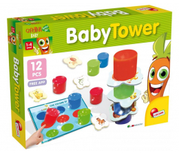 Gra dla małych dzieci Lisciani Giochi Carotina Baby Tower
