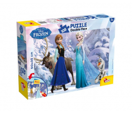 Puzzle dla dzieci Lisciani Giochi Disney dwustronne 108 el. Kraina Lodu