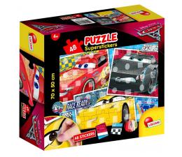 Puzzle dla dzieci Lisciani Giochi Disney super naklejki 48 el. Auta 3