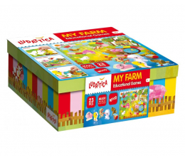 Gra dla małych dzieci Lisciani Giochi Ludattica gry edukacyjne Moja Farma