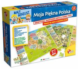 Puzzle dla dzieci Lisciani Giochi Mały Geniusz Moja piękna Polska 108 el.