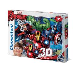 Puzzle dla dzieci Clementoni Puzzle Disney 3D Vision Avengers 104 el.