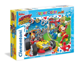 Puzzle dla dzieci Clementoni Puzzle Disney Mickey and the Roadster Racers 104 el.